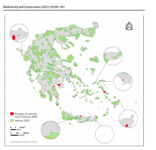 Χάρτης βιοποικιλίας Ελλάδος