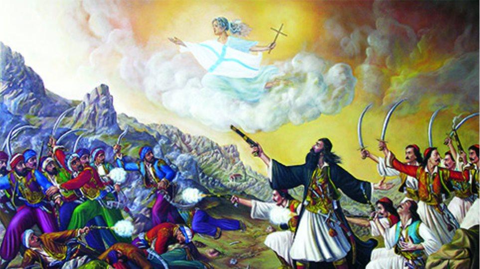 Η μάχη στο Κολιάκι από τον Παπαφλέσσα, σκίτσο